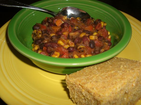 Veggie Chili with Cornbread
