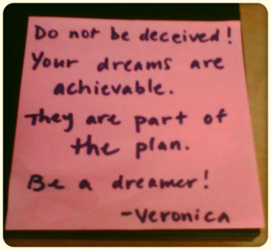 Inspirational post-its can sometimes be humiliating