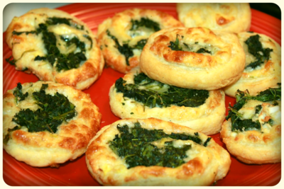 Spinach and Cheese Pinwheels