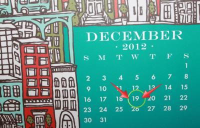 December 19th, baby.
