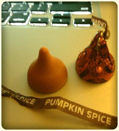 Pumpkin Spice Hershey Kiss!