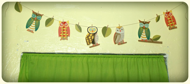 Owl Clothesline