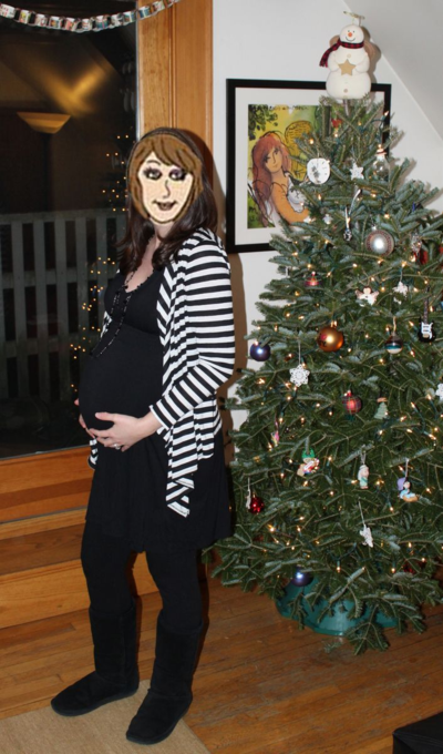 Preggo broad at Christmas