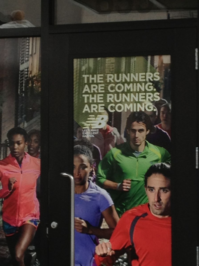 The runners are coming